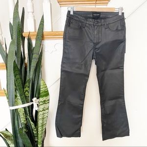 Black orchid cropped raw hem waxed Black jeans 27